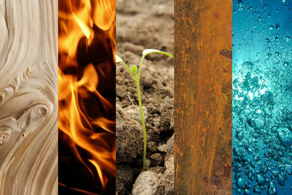 Elements, Different ways of having sex, fire, water, earth, air, ether